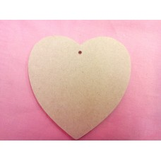 4mm Thick MDF Rounded Heart  starts at 50mm